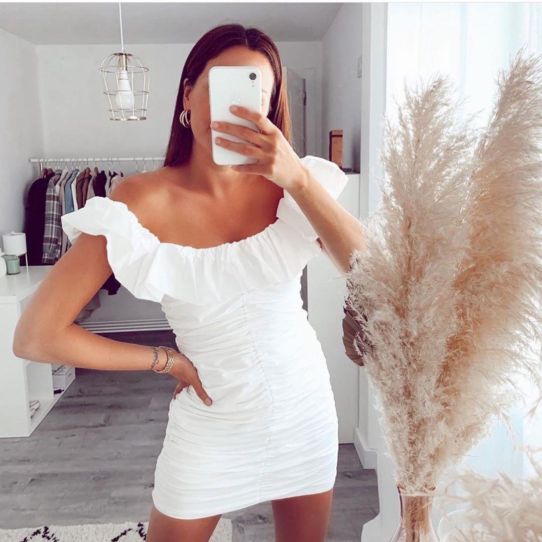 robe en popeline drapée de Zara sur zara.outfits