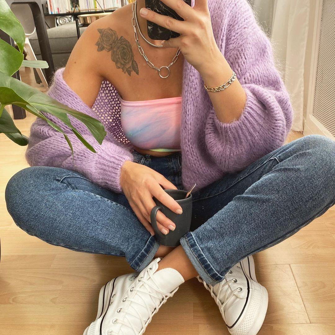 jeans droit bleu de Les Bourgeoises sur lesbourgeoisesofficiel