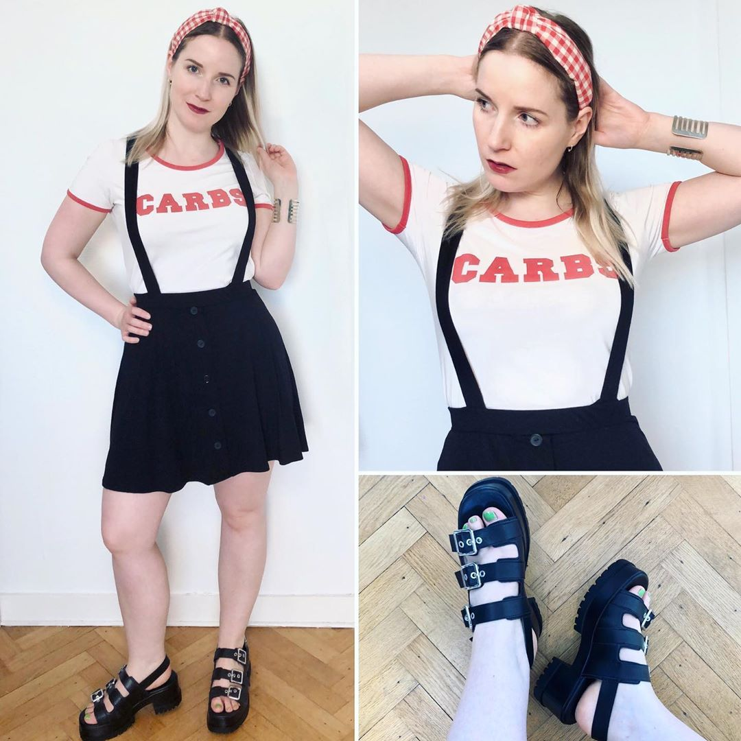 track sole wedge sandals with buckles de Zara sur ixelloisechic
