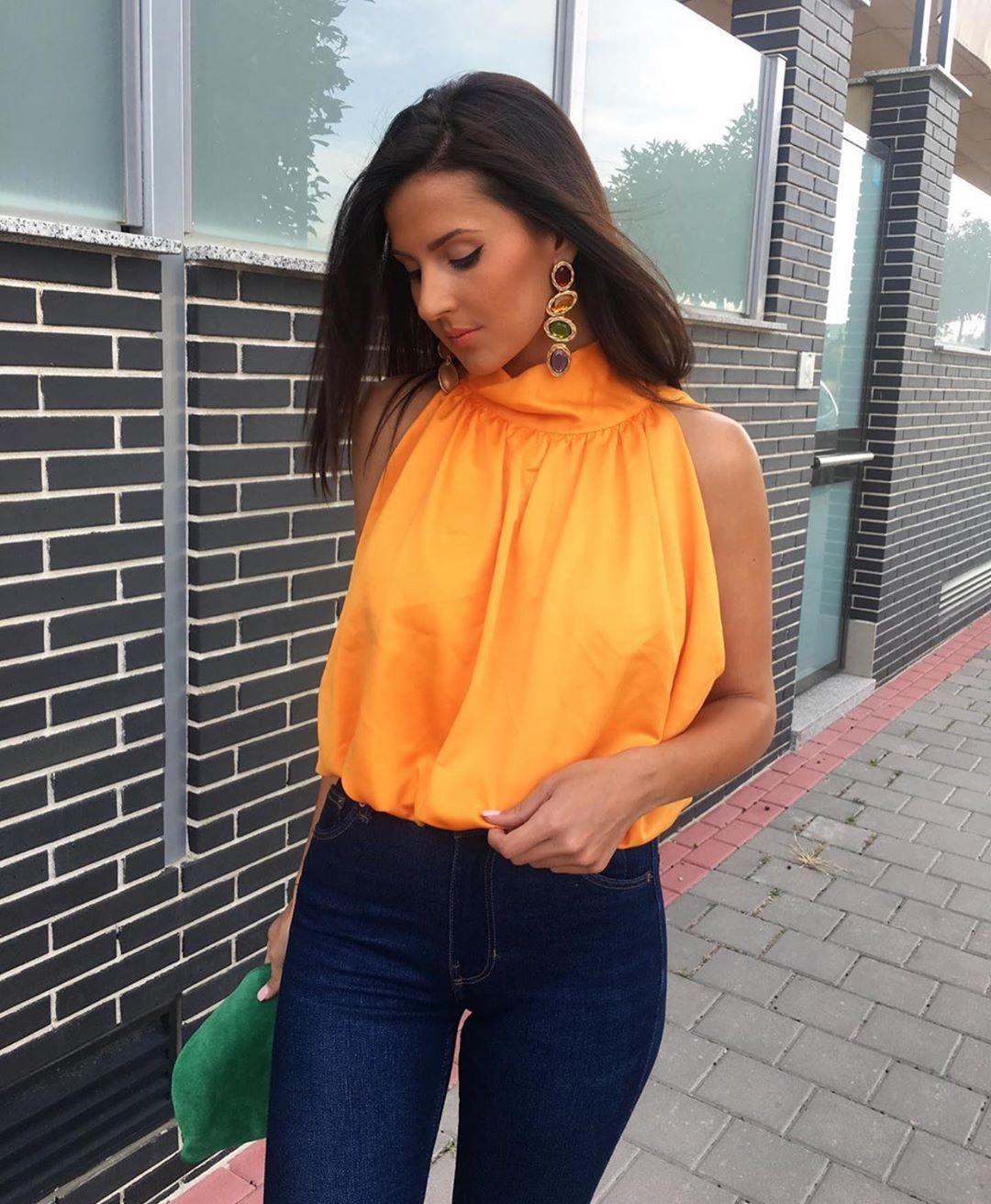 top noué de Zara sur zara.outfits