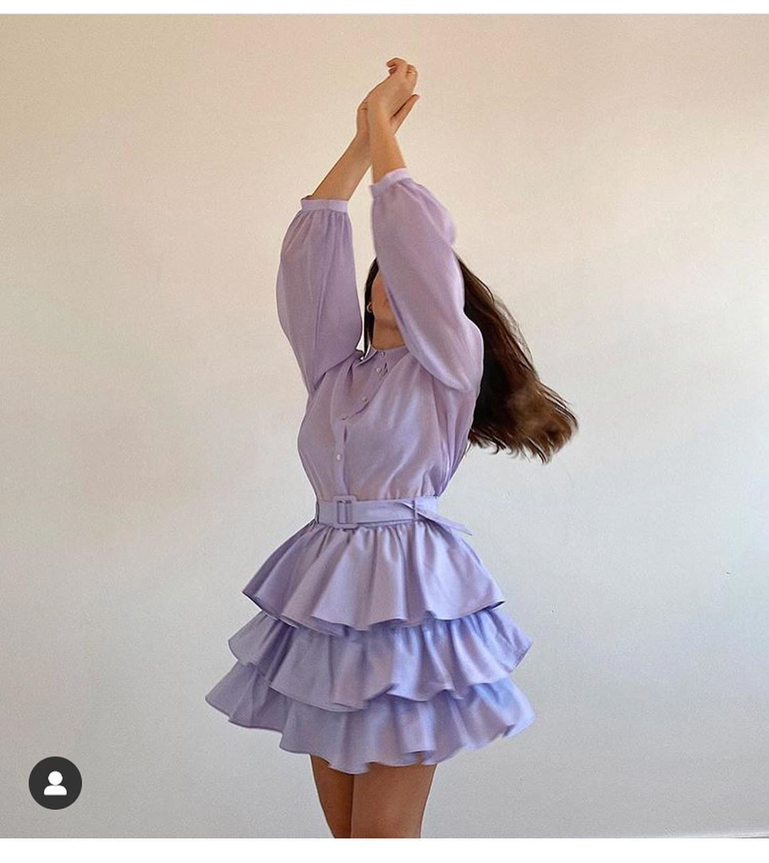 mini skirt with ruffles and belt de Zara sur look_by_zara_hm