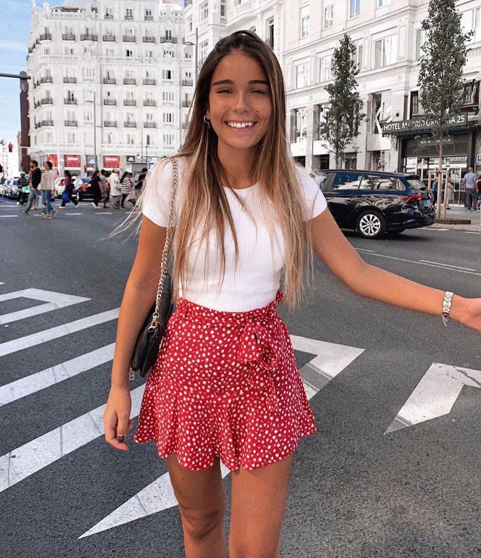 jupe-short à volant de Zara sur zara.outfits