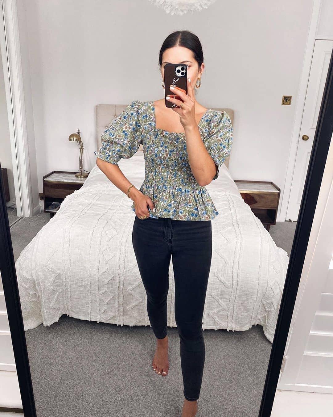 blouse arcadi de Mango sur mango.outfits