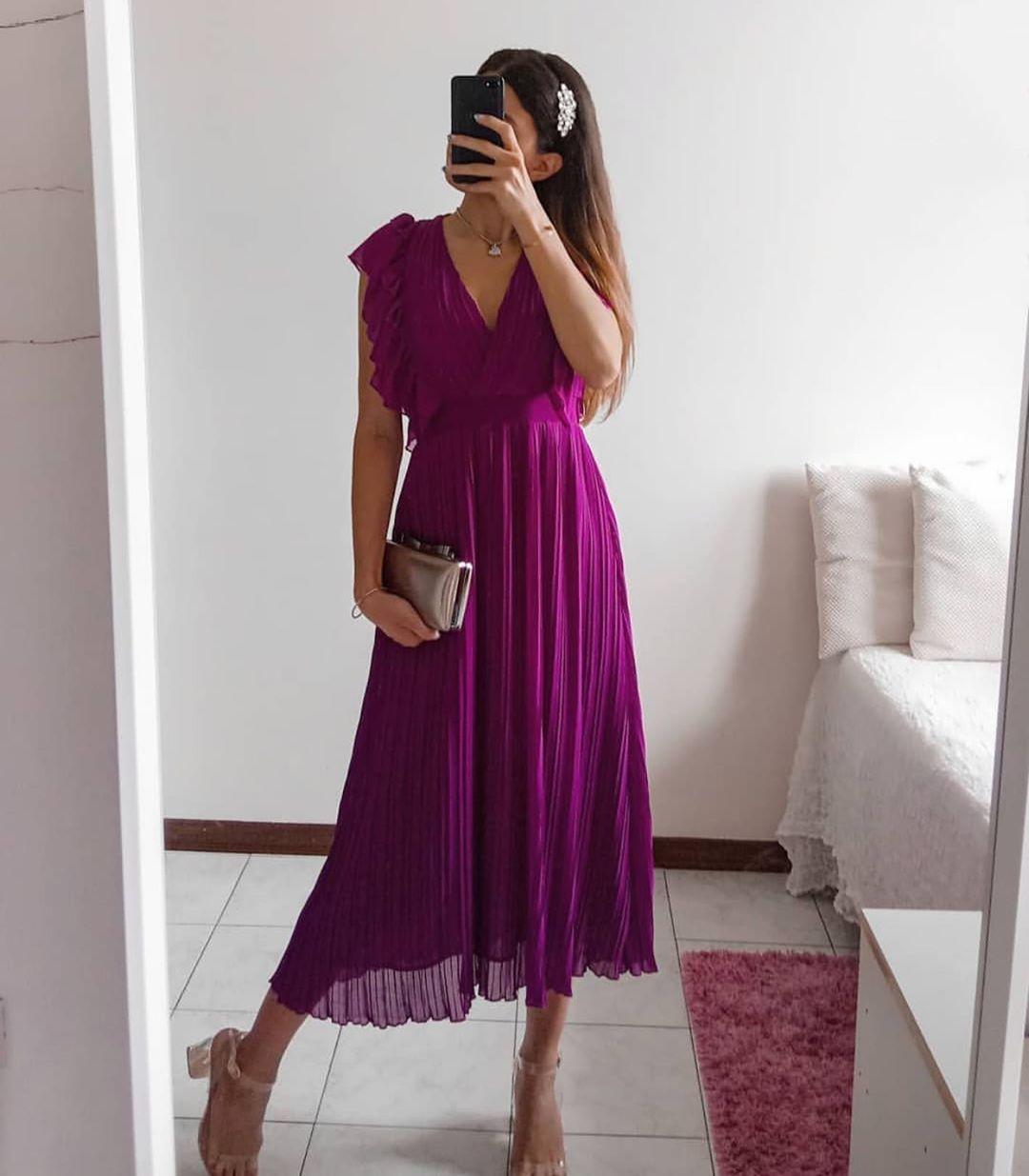 ruffle pleated dress de Zara sur zaraaddiction