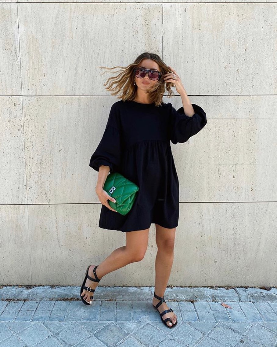 robe courte à volume de Zara sur zara.outfits