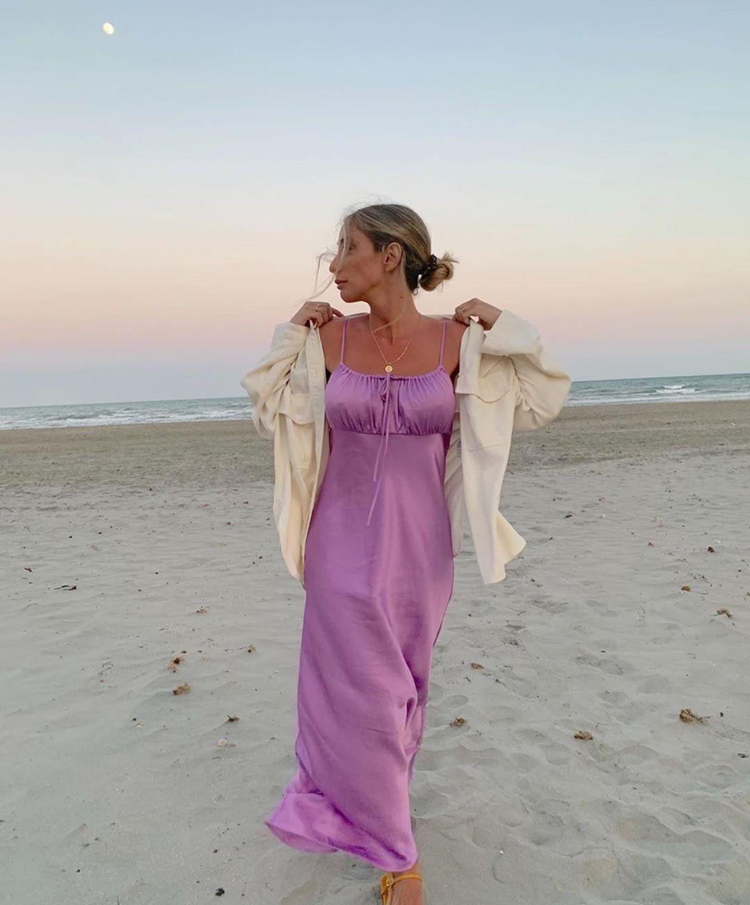 robe satinée de Zara sur zara.outfits
