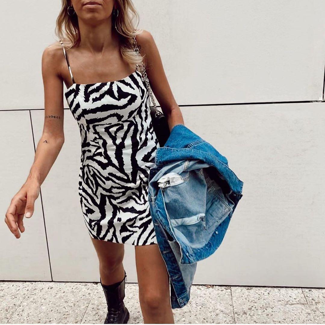robe à imprimé animalier de Zara sur zara.outfits
