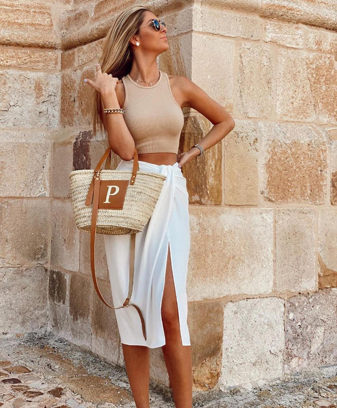 jupe portefeuille rustique avec noeud de Zara sur zara.outfits