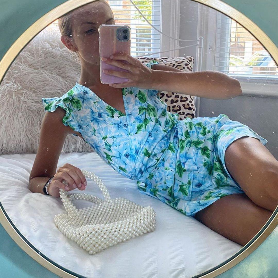 draped jumpsuit with shoulder pads de Zara sur zaraaddiction