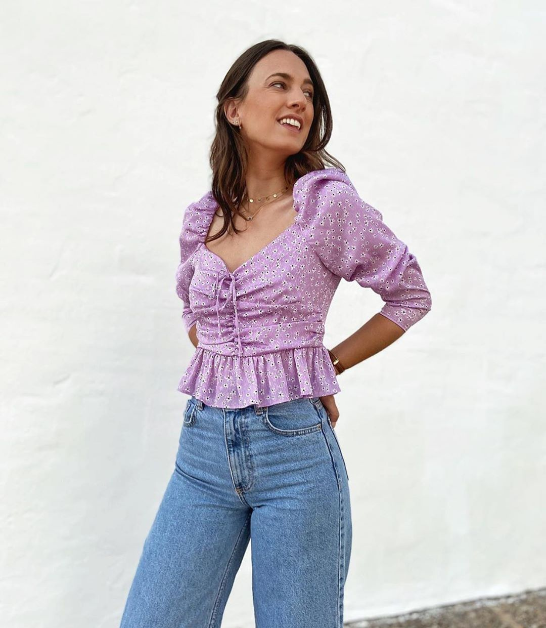 printed blouse with bow de Zara sur zaraaddiction