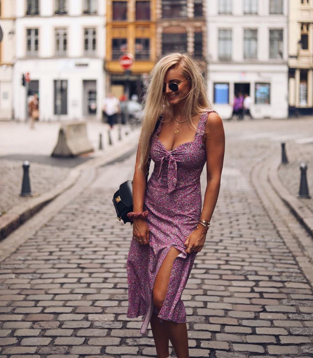 robe à imprimé fleurs de Zara sur zara.outfits