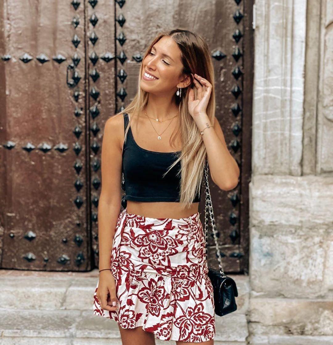 printed mini skirt de Zara sur zaraaddiction