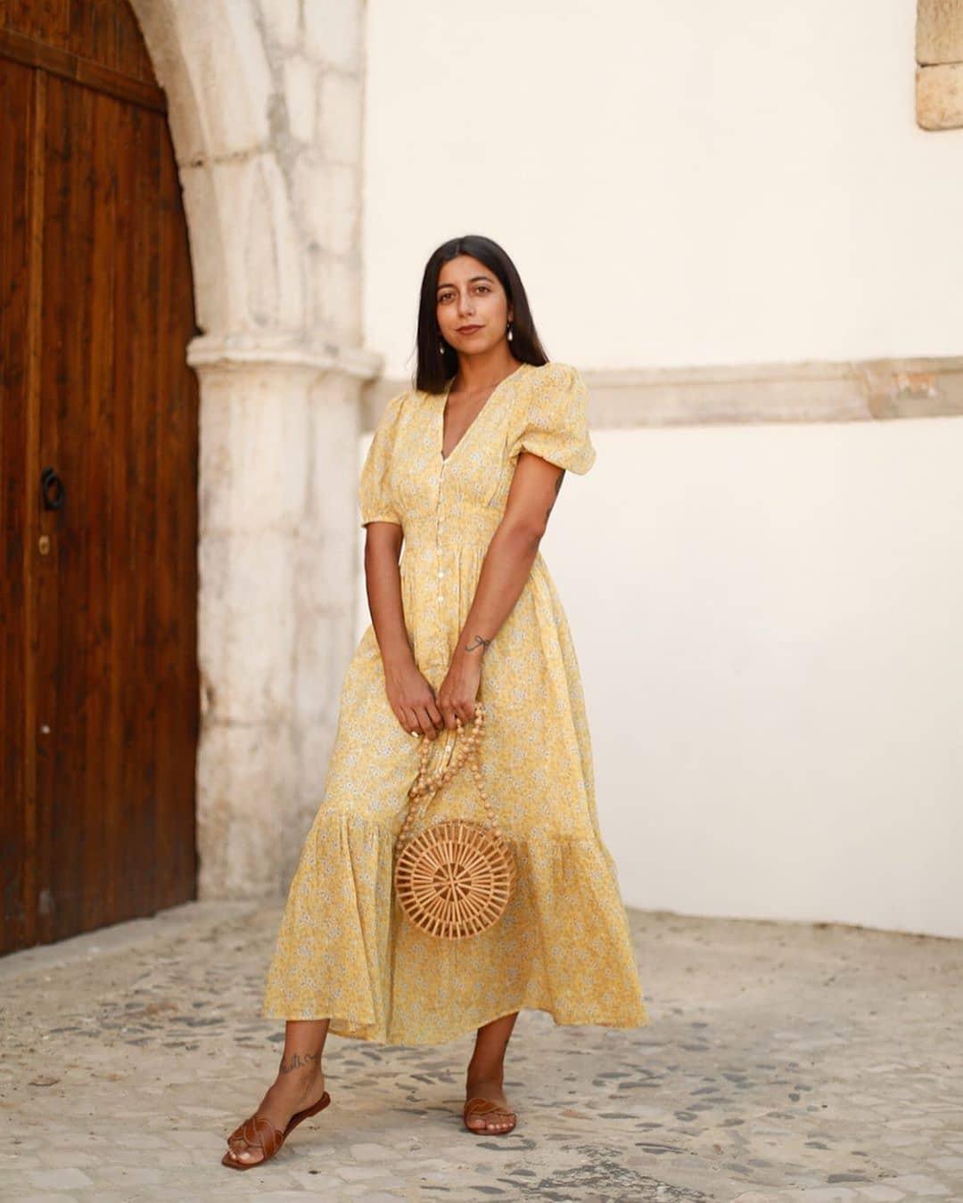 robe jungle de Mango sur mango.outfits