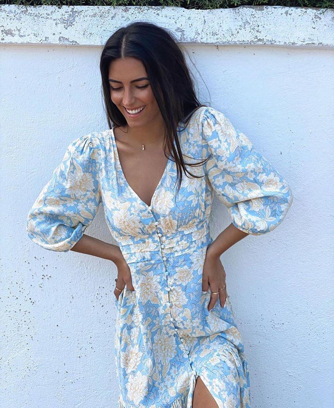 robe imprimée de Zara sur zara.outfits