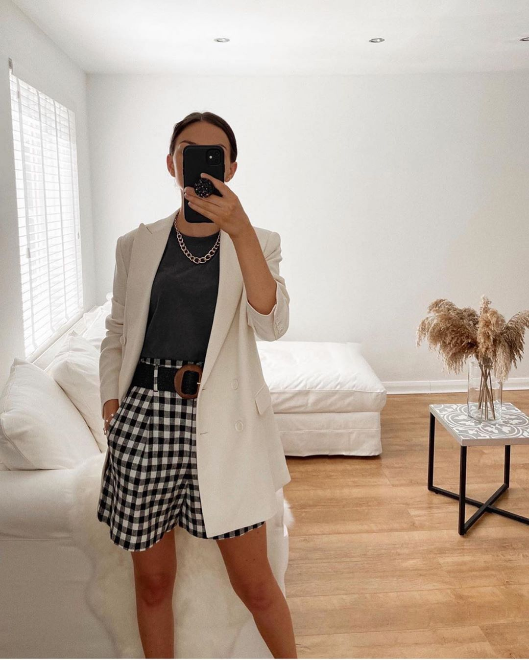 bermuda à carreaux vichy de Zara sur zara.outfits