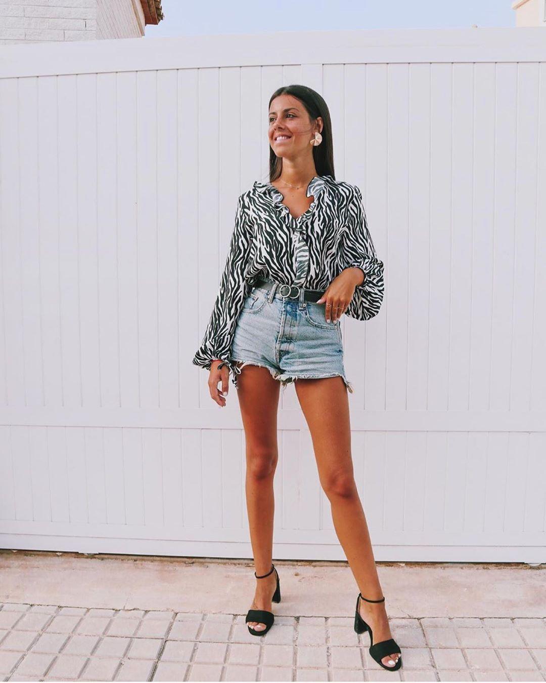 blouse à imprimé animalier de Zara sur zara.outfits