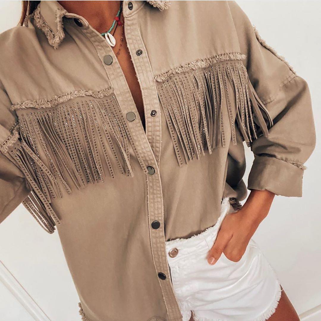 veste à franges et clous de Zara sur zara.outfits