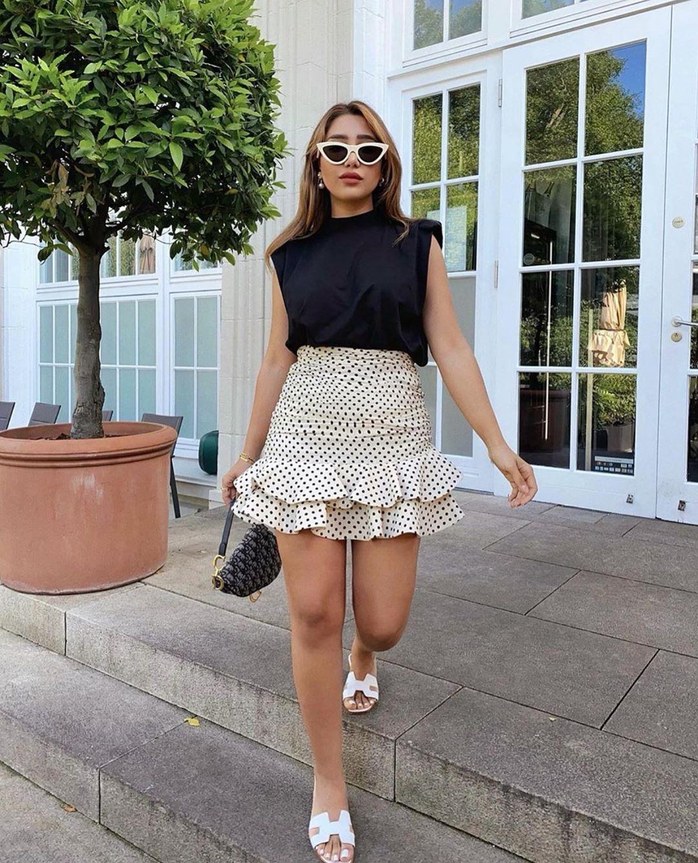mini jupe à pois de Zara sur zara.outfits