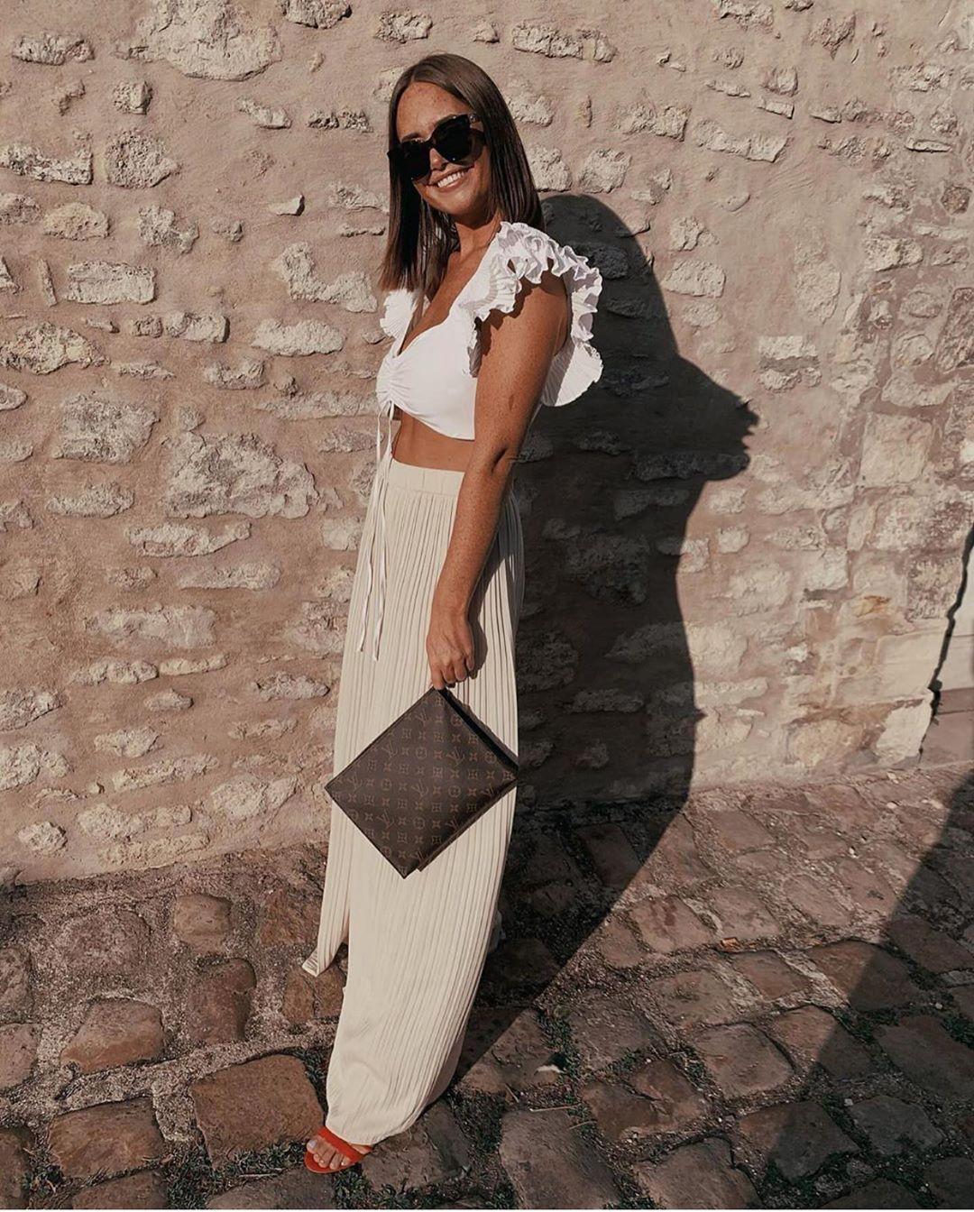 top court en popeline de Zara sur zara.outfits