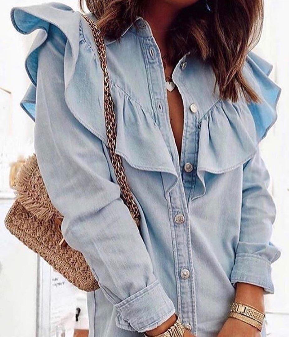 short denim shirt dress de Zara sur look_by_zara_hm