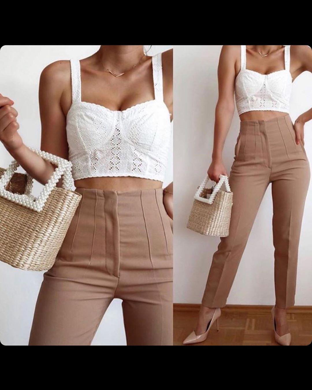 lace bra top de Zara sur look_by_zara_hm