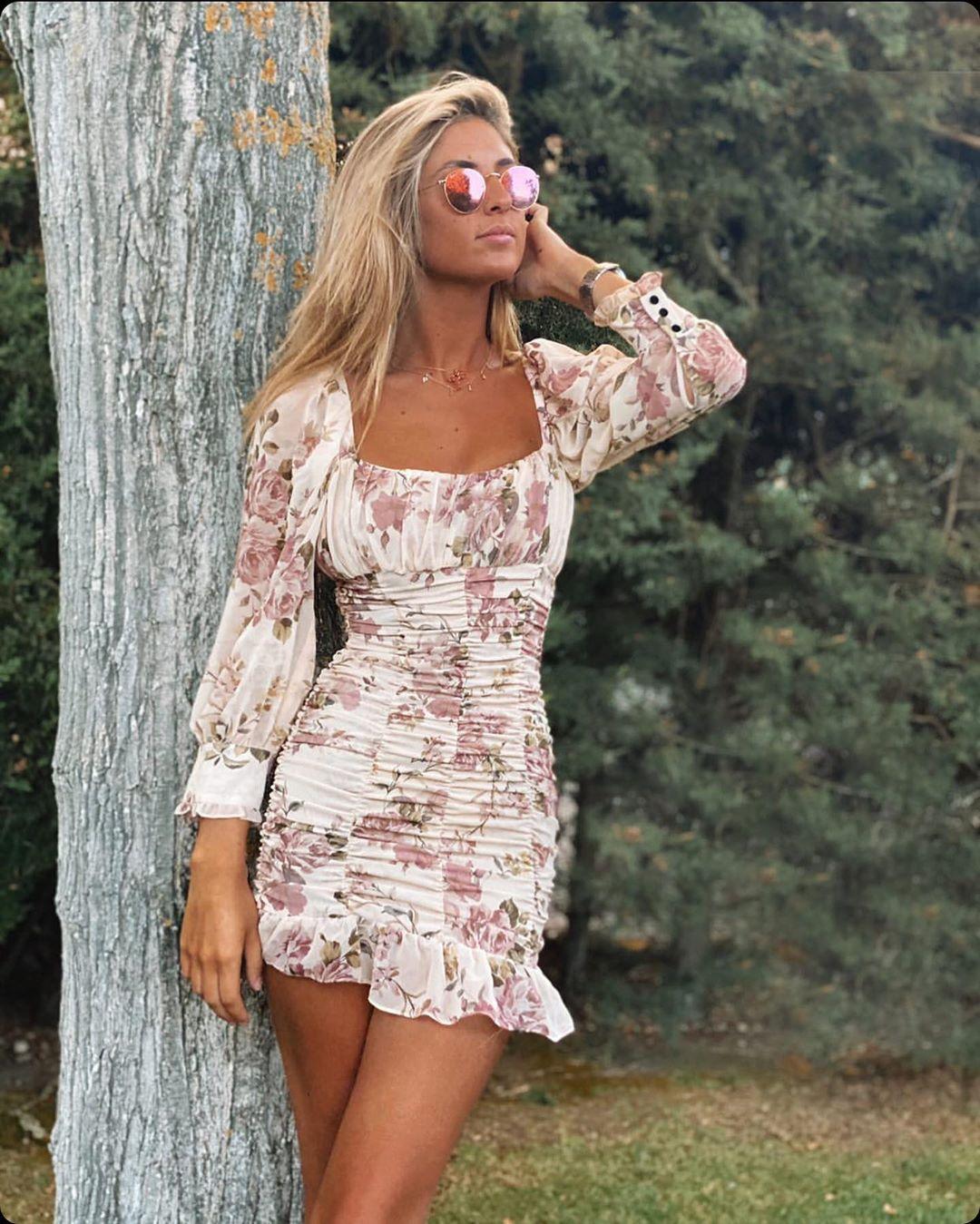 printed and draped dress de Zara sur zara__lovers
