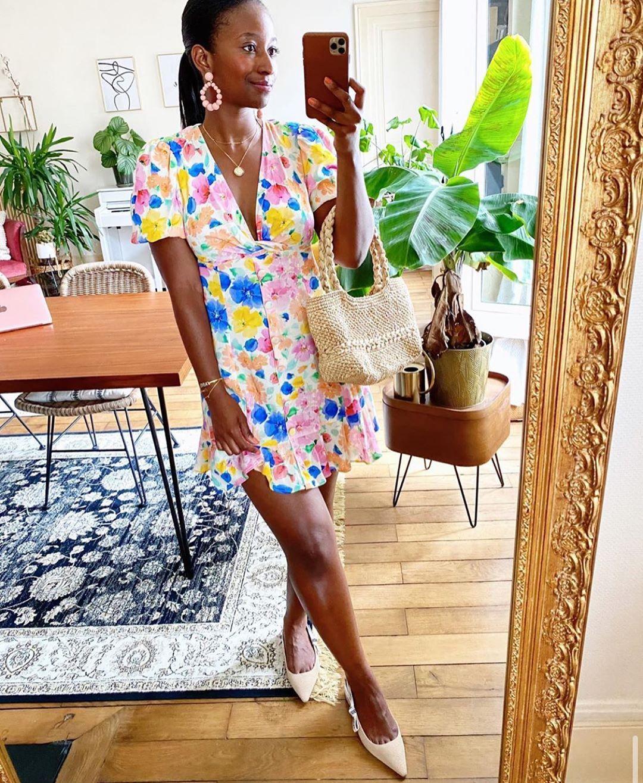 robe courte imprimée de Zara sur zara.mania