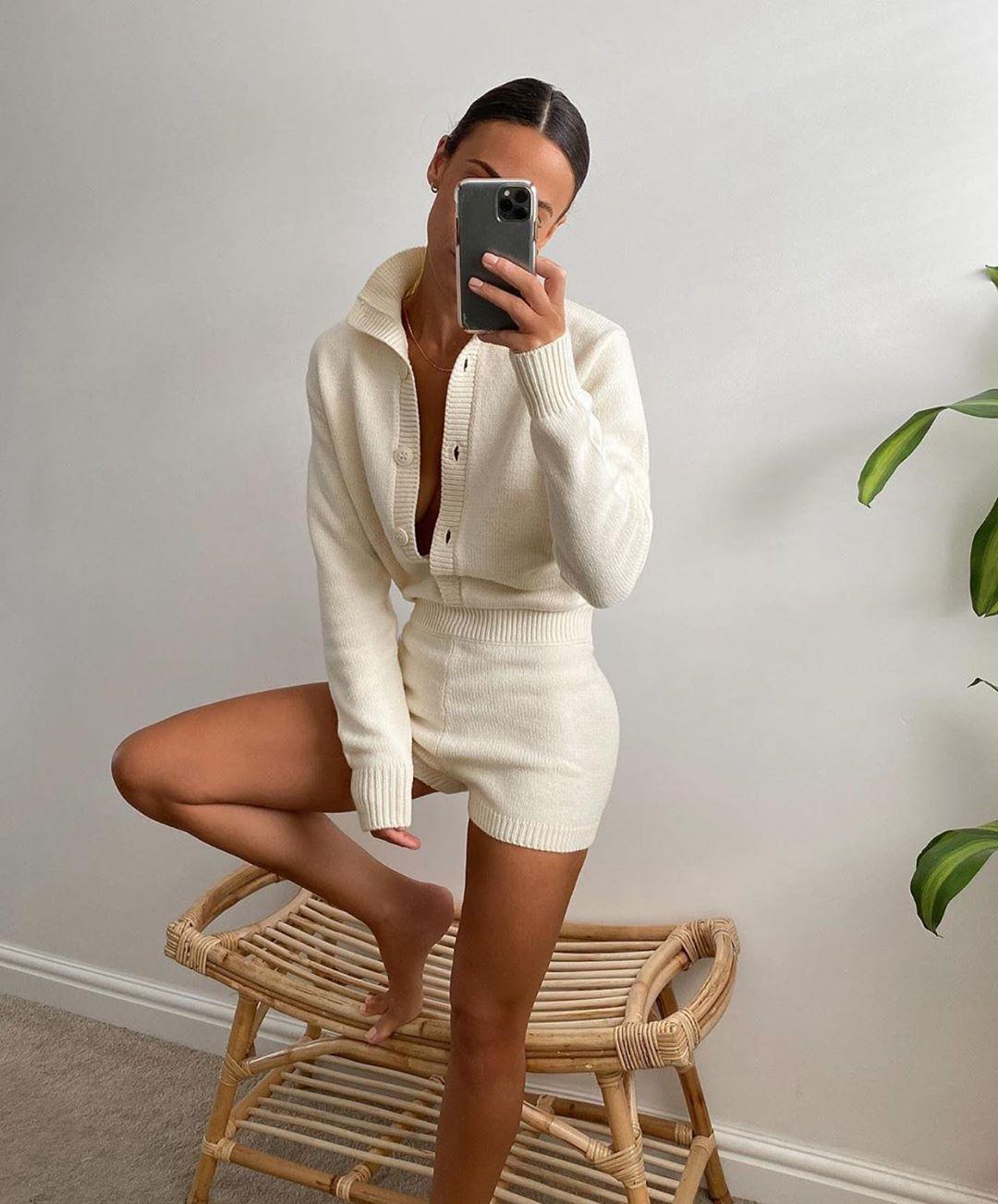 combinaison en maille limited edition de Zara sur zara.outfits