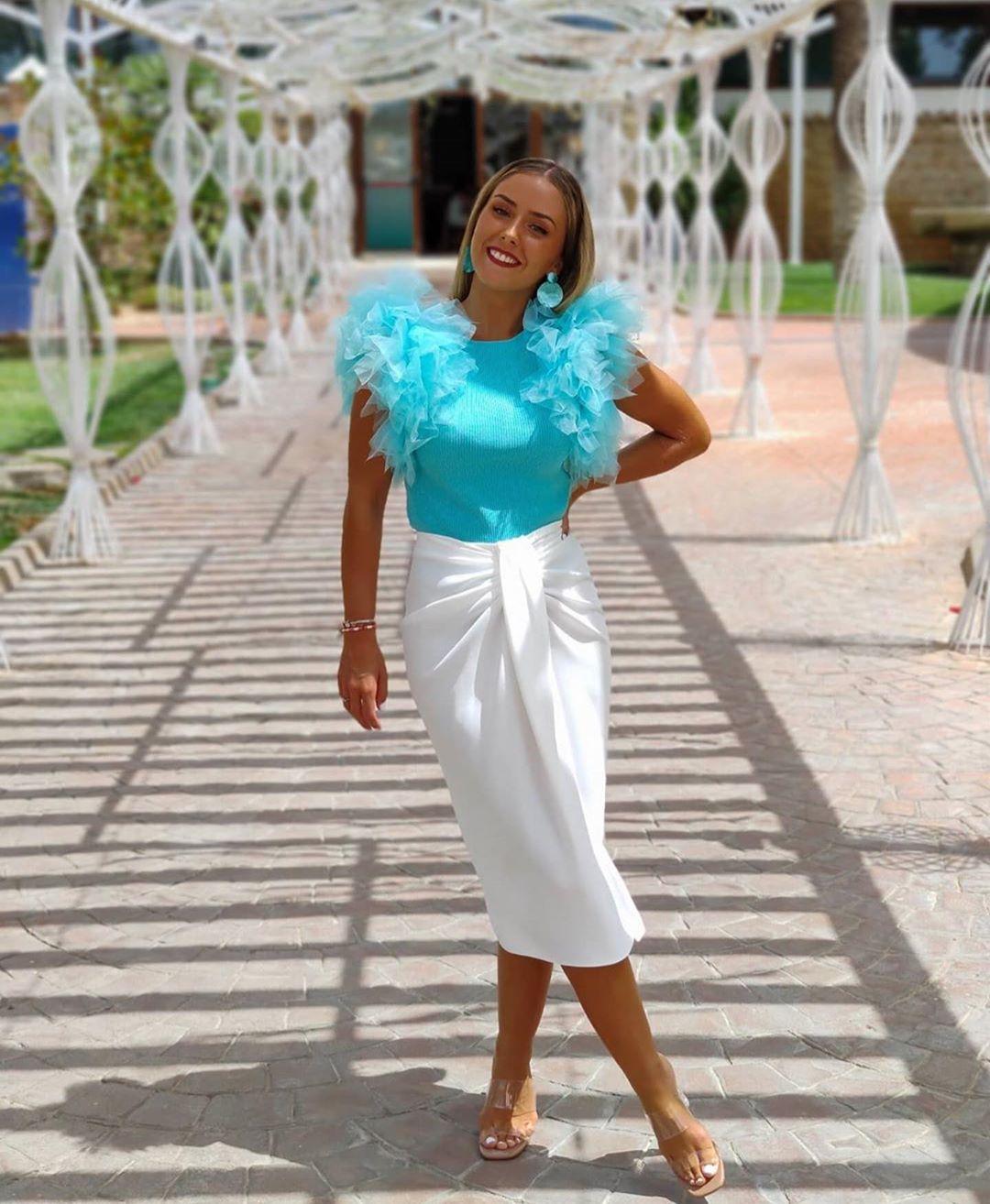 jupe paréo à nœud de Zara sur zara.outfits