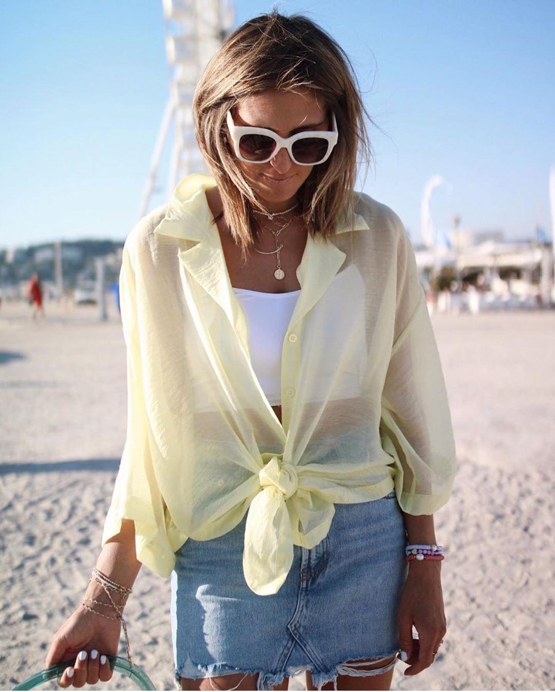 mini jupe en jean déchirée de Zara sur zara.outfits