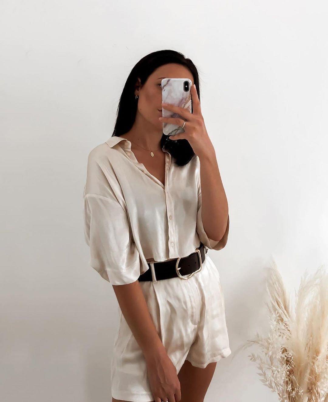 chemise fluide satinée de Zara sur zara.outfits
