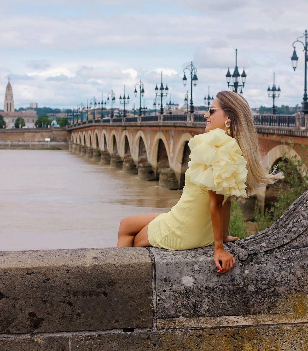 robe courte bimatière de Zara sur zara.outfits