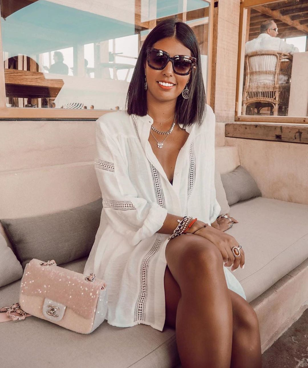 blouse en plumetis bimatière de Zara sur zara.outfits