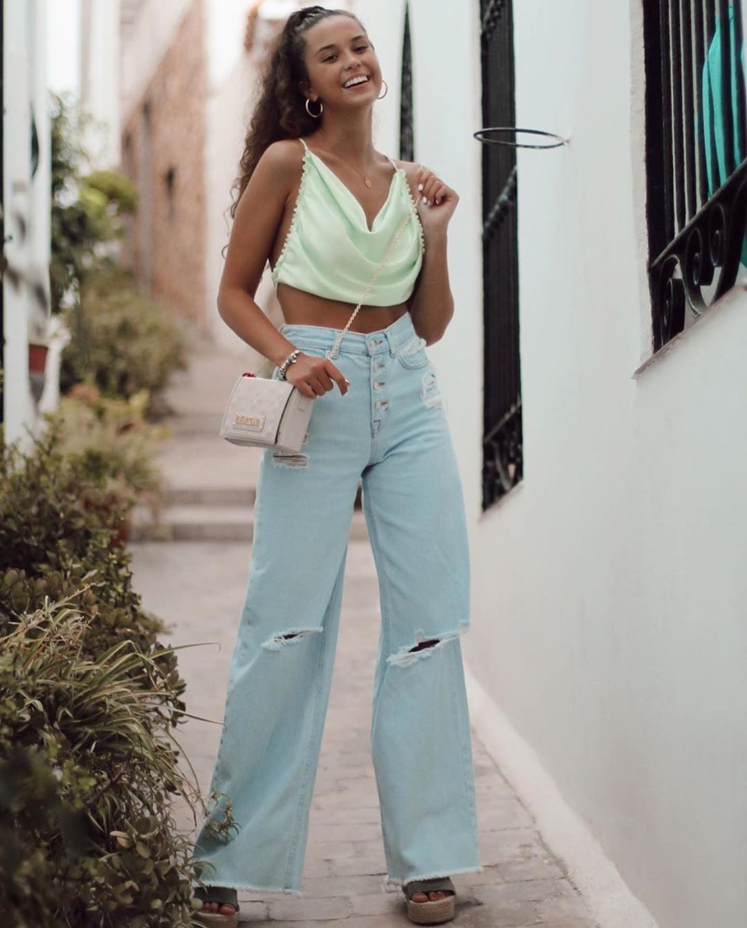 top satiné de Zara sur zara.outfits