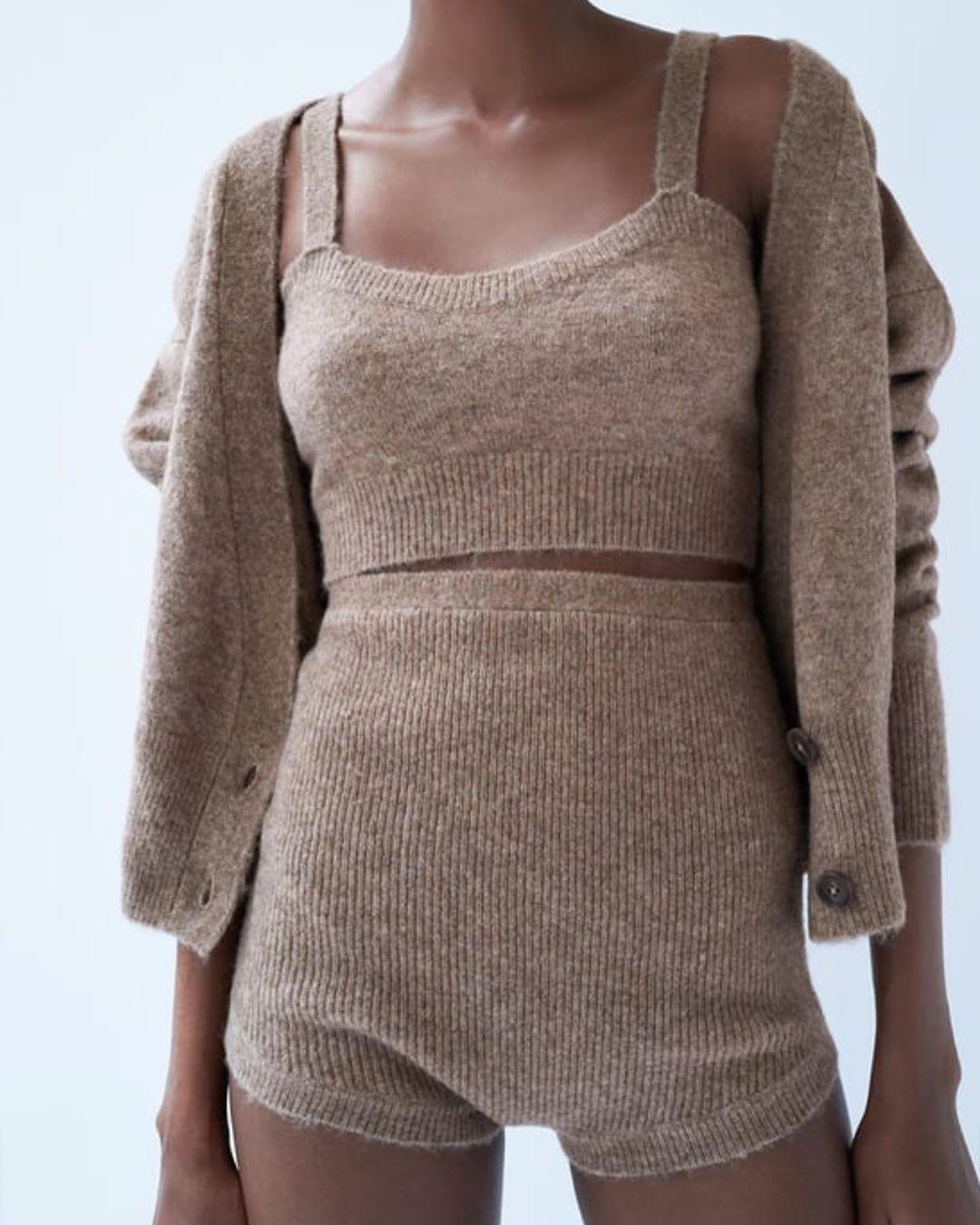 shorts with wool de Zara sur look_by_zara_hm