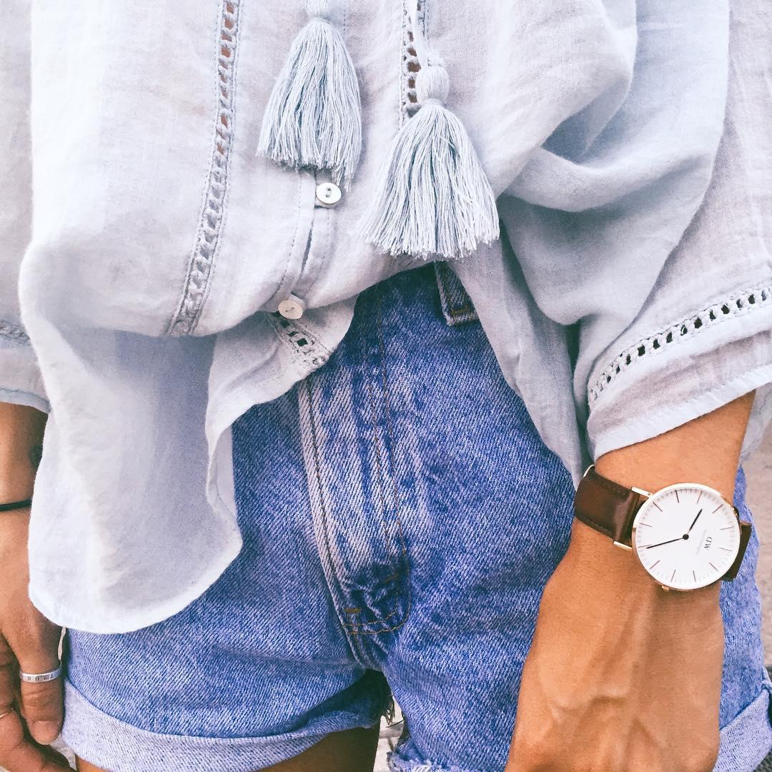 short levis 501 jeans bleu clair tirettes côtés  de Les Bourgeoises sur melissavillarreal
