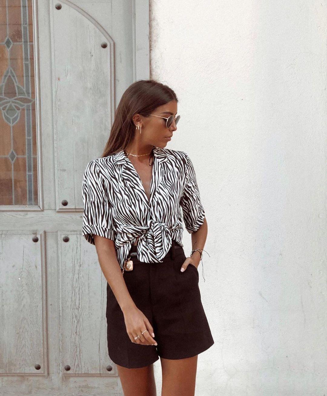 short taille haute de Zara sur zara.outfits