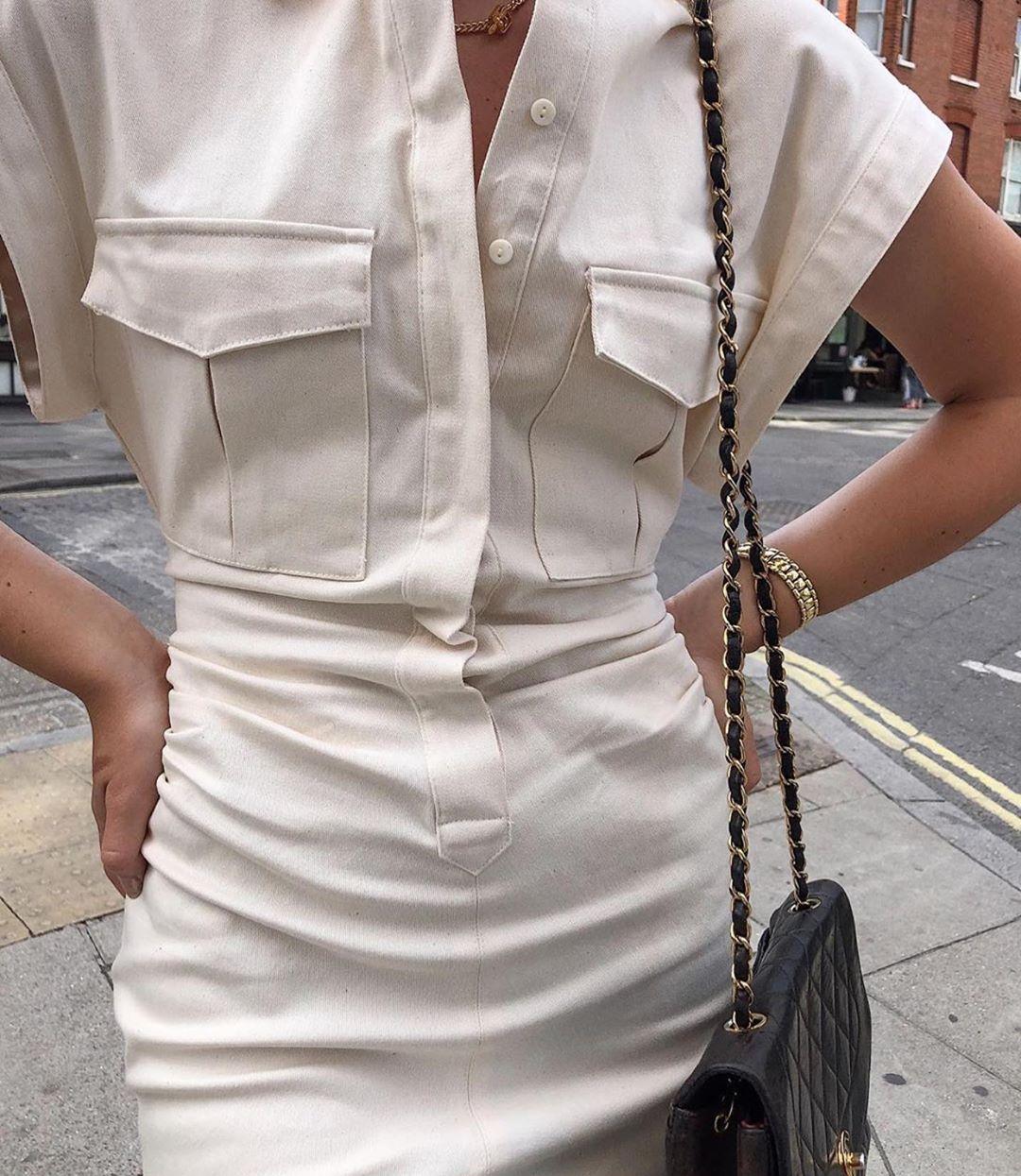 pocket dress with clip de Zara sur zaraaddiction