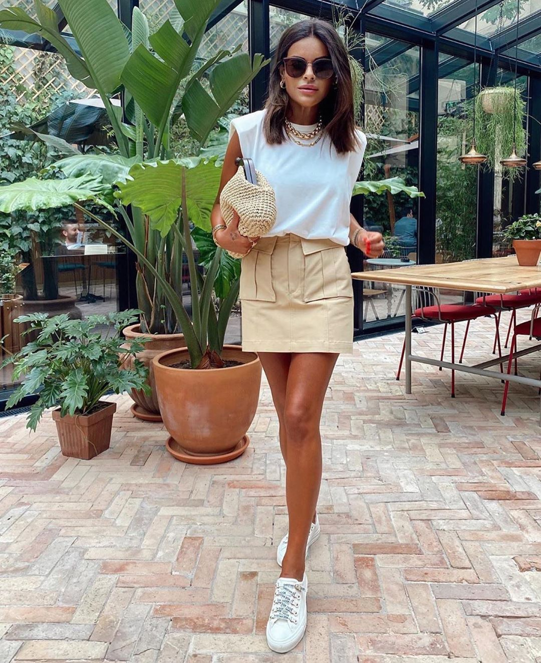 mini jupe rustique de Zara sur zara_streets