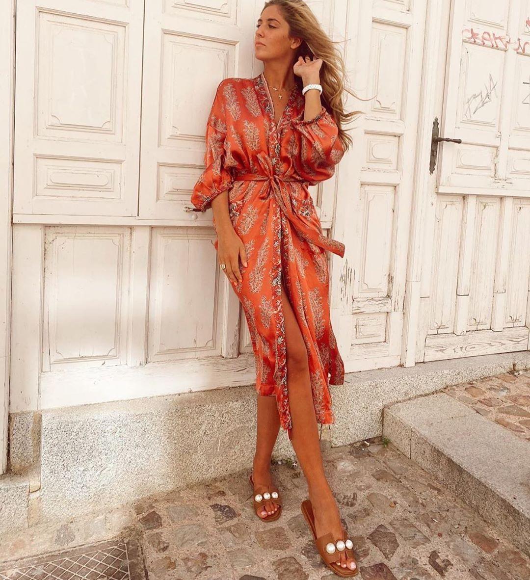 printed kimono de Zara sur zaraaddiction