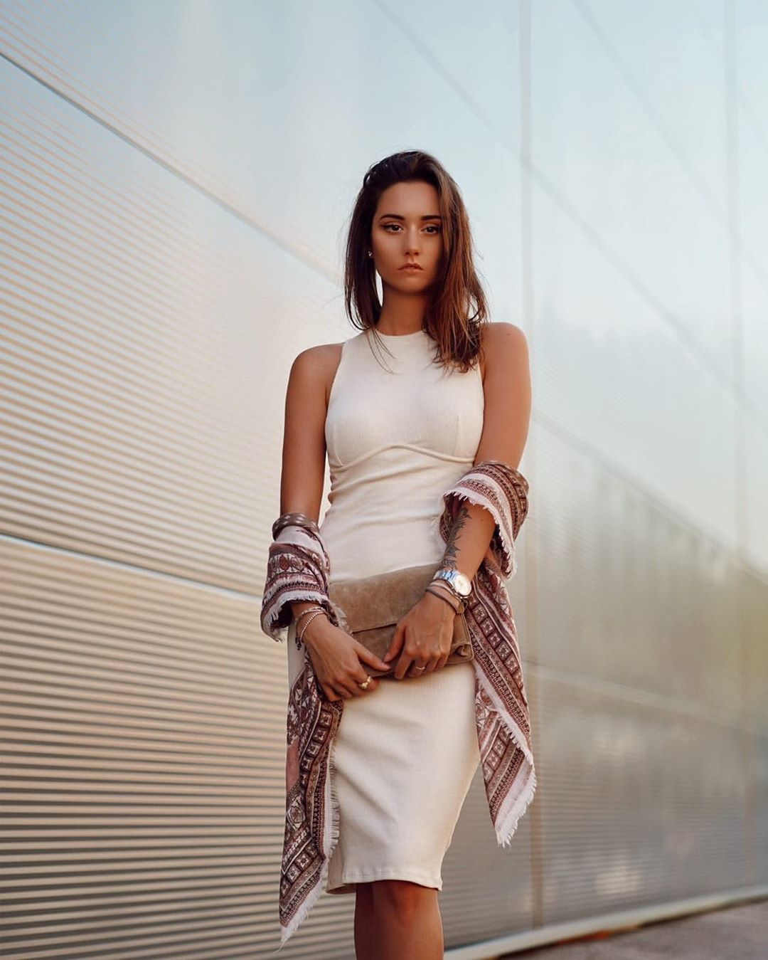 robe côtelée de Zara sur zara_streets