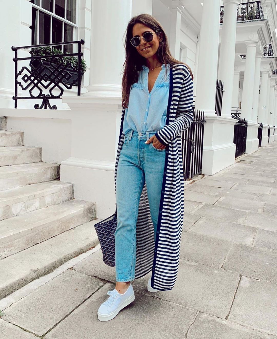 veste en maille à rayures de Zara sur zara.outfits