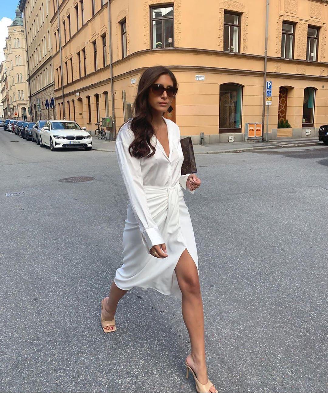 mules à talons et bouts carrés en cuir soft de Zara sur zara.outfits