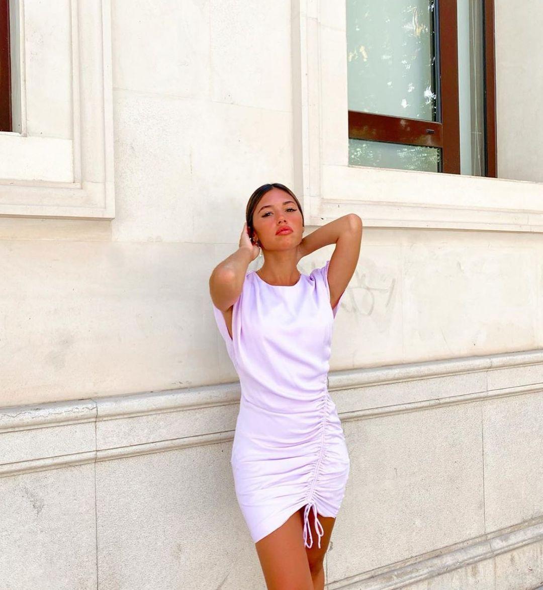 satiny dress with ruching de Zara sur zara.style.daily