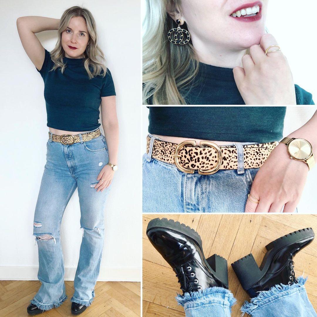 ripped flare jeans de Bershka sur ixelloisechic