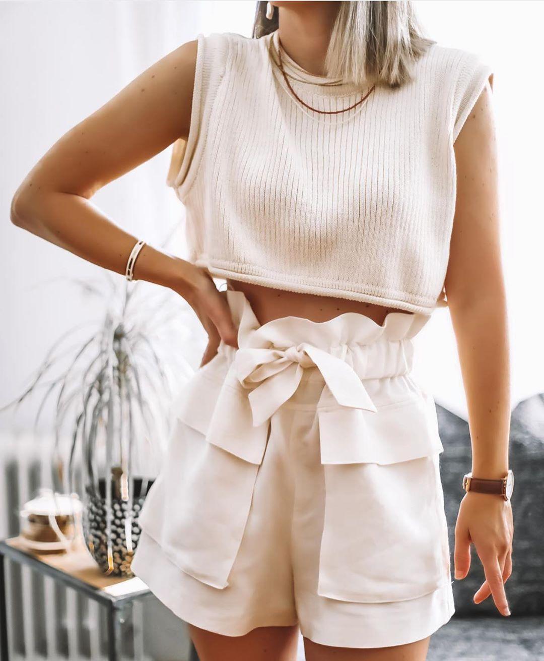 top court en maille de Zara sur zara.outfits