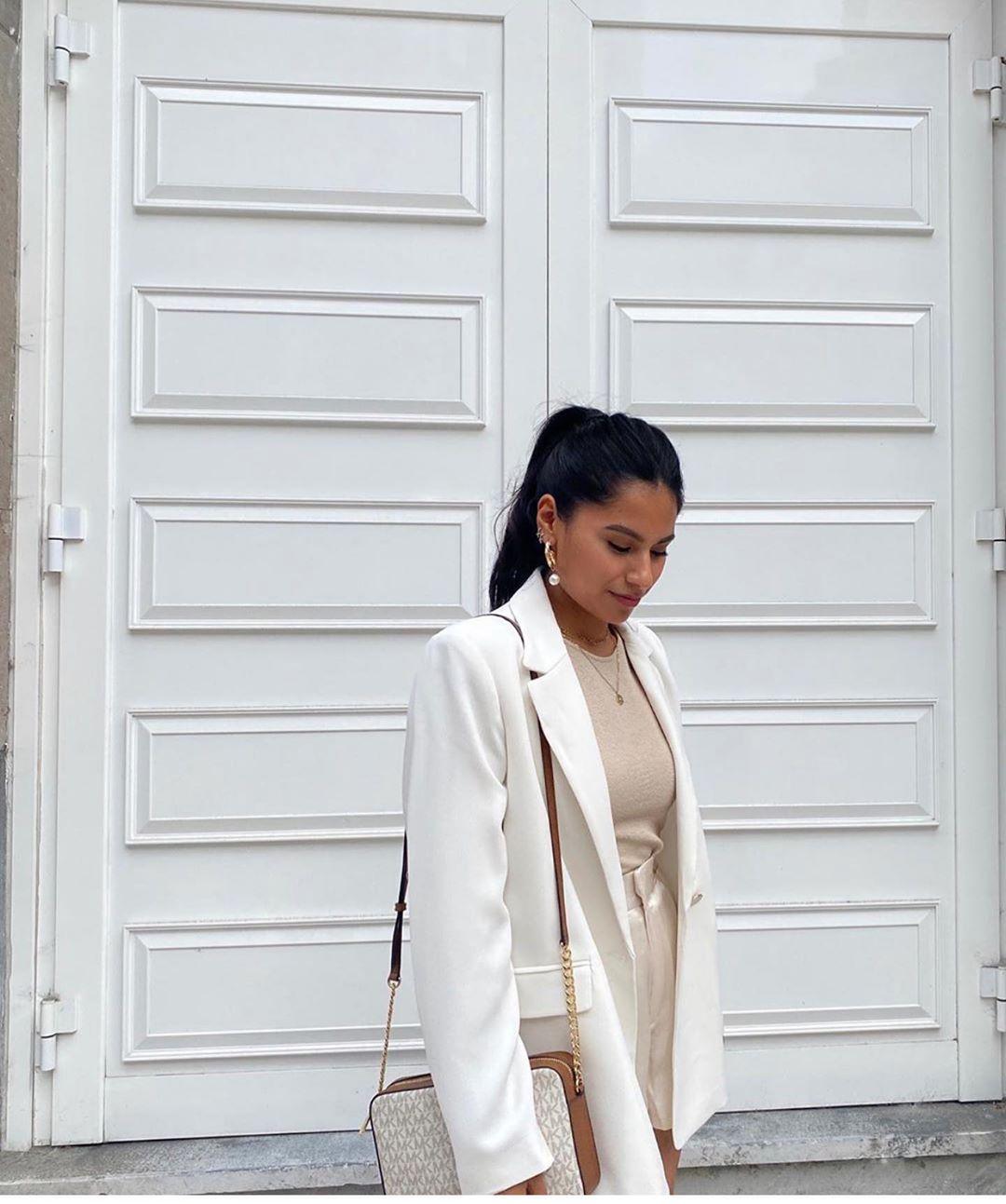 bermuda satiné de Zara sur zara.outfits