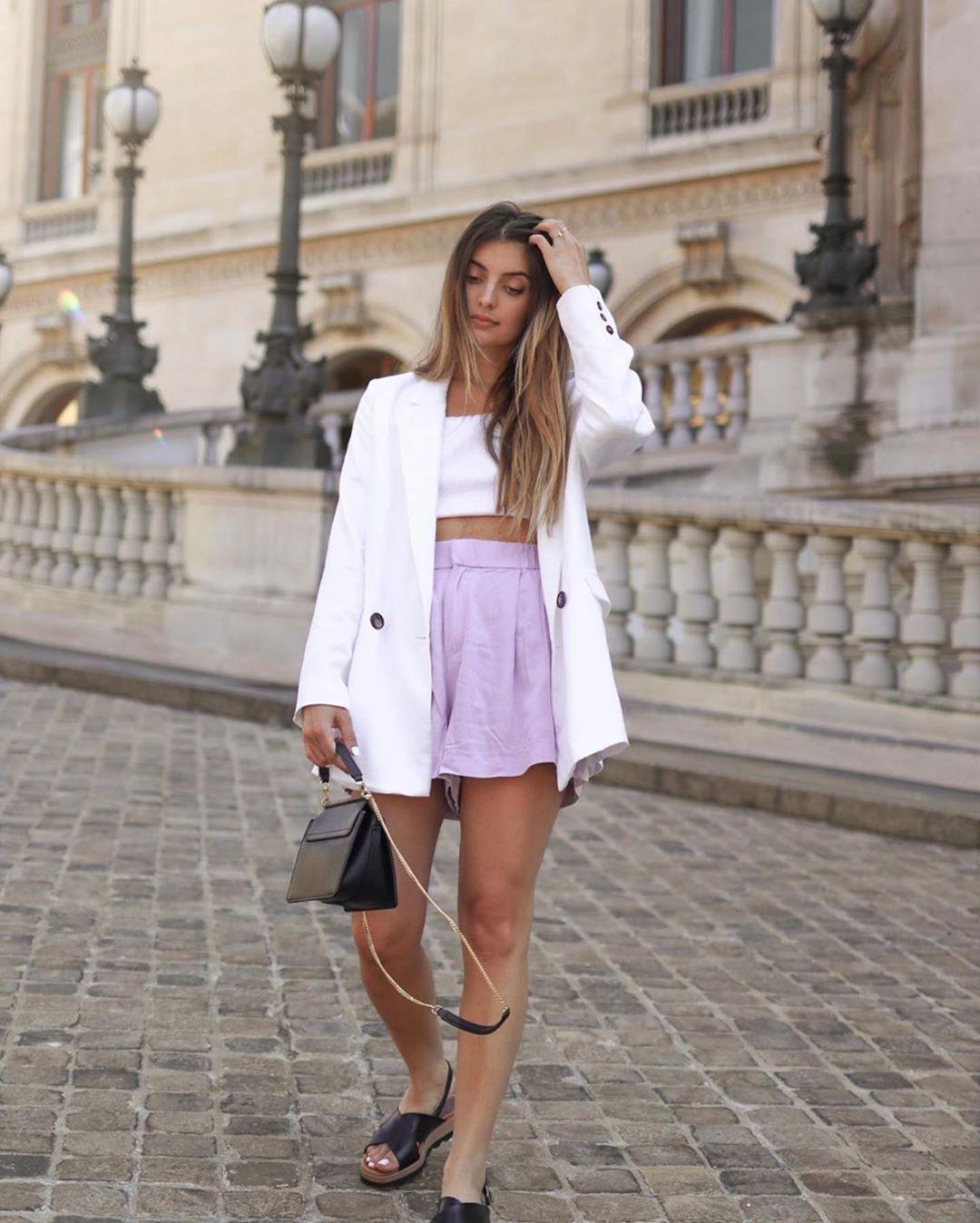 short ample à ceinture de Zara sur zara.outfits