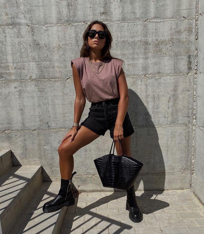 short en jean taille haute effiloché de Zara sur zara.outfits