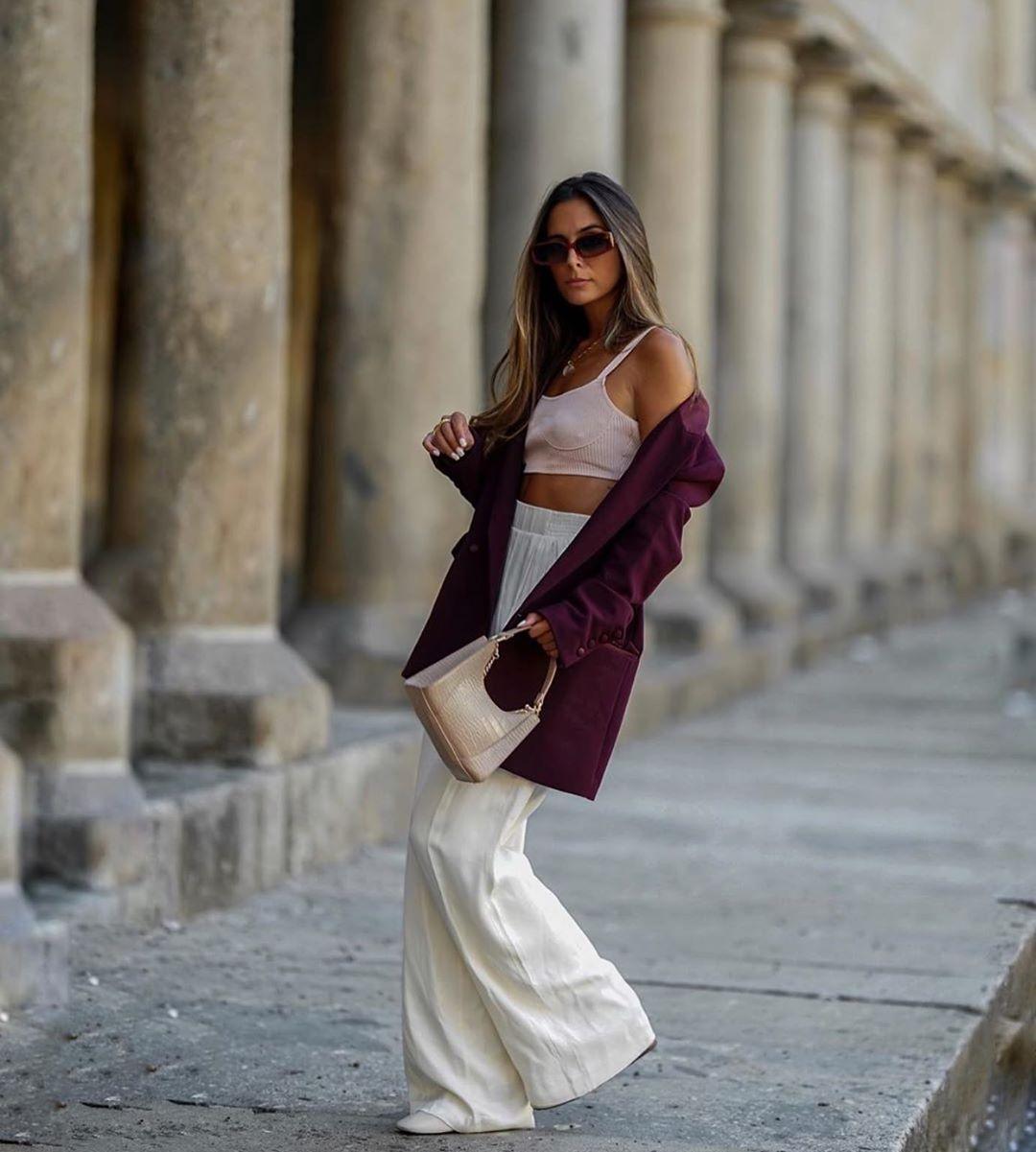 top court en cuir synthétique de Zara sur zara.outfits